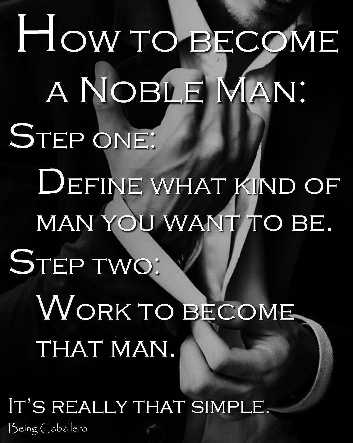 How to become a man