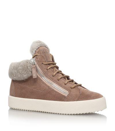 GIUSEPPE ZANOTTI Congo Shearling Sneakers. #giuseppezanotti #shoes #