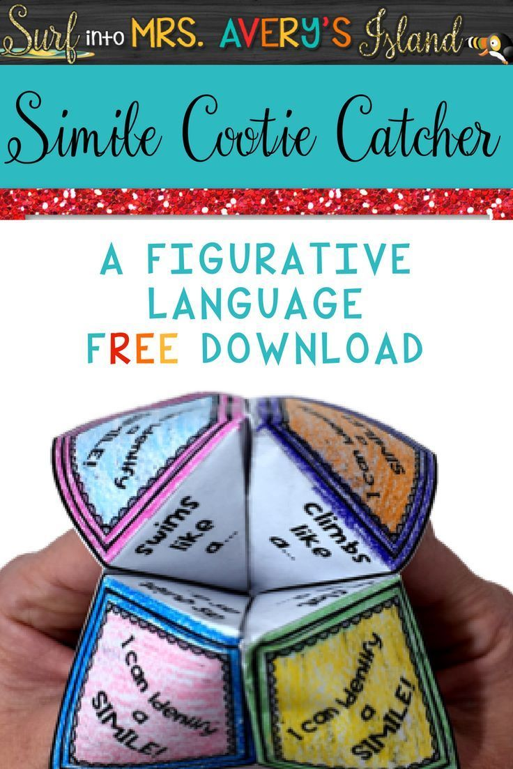 Teaching figurative language?  Similes are one of my favorite types of figurative language to teach, and this free, no prep simile activity will have your students as happy as a lark when added to your poetry or writing lesson plans!