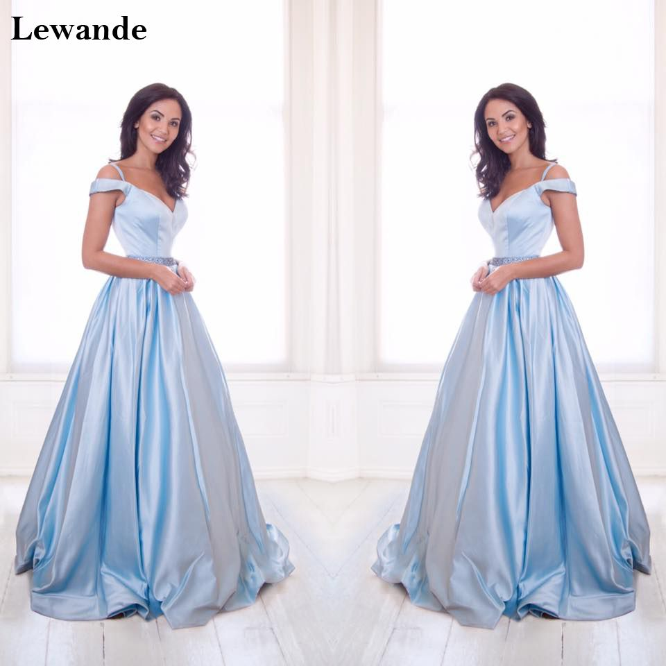 Off the shoulder sweetheart beaded long prom dress luxury satin