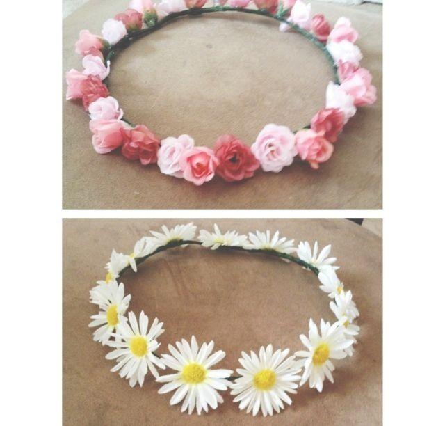 Pin By Lauren Mazur On Accesories Flower Headband Diy Diy Flower Crown Diy Flowers