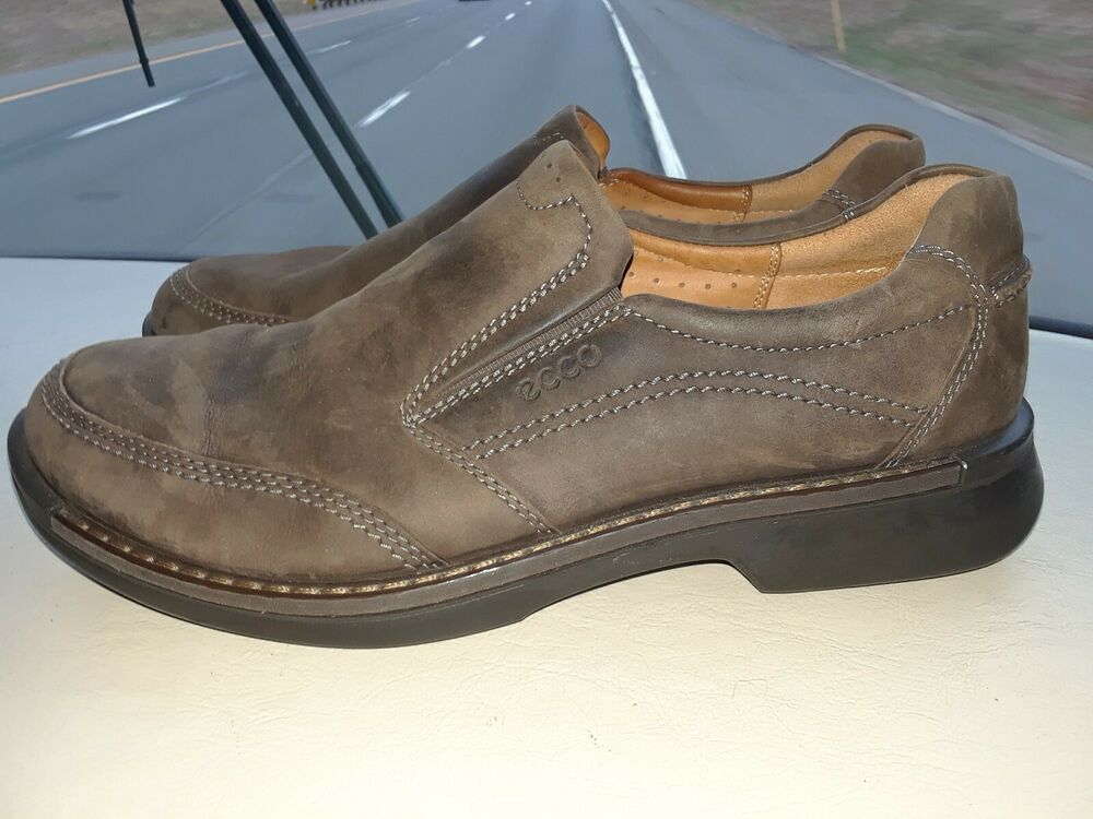 b0ec36eb ECCO Mens Brown Loafers Shoes Distressed Leather US 11.5 / 12 EU 45 ...