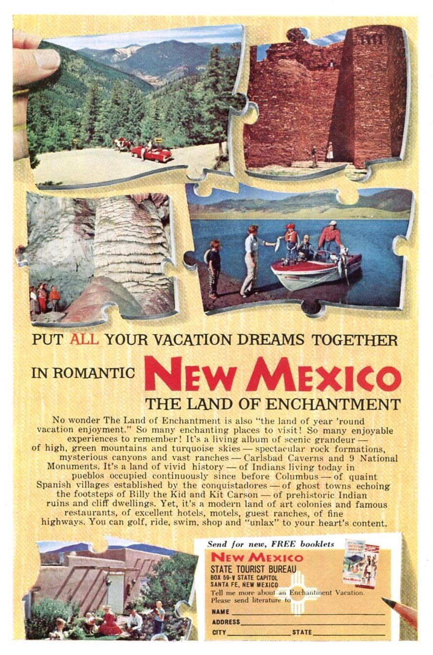 New Mexico Vintage Travel Ad 1959 Tourism Family Vacation American ...