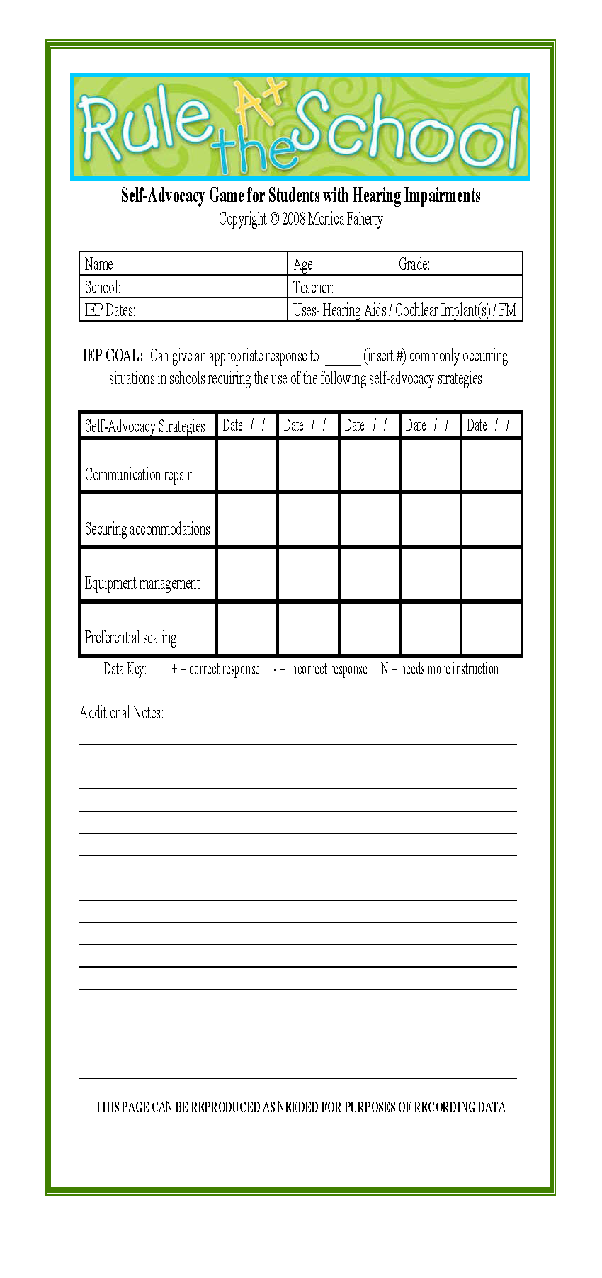Worksheets Self Advocacy Worksheets data sheet for challenging situations at school card deck self advocacy board game