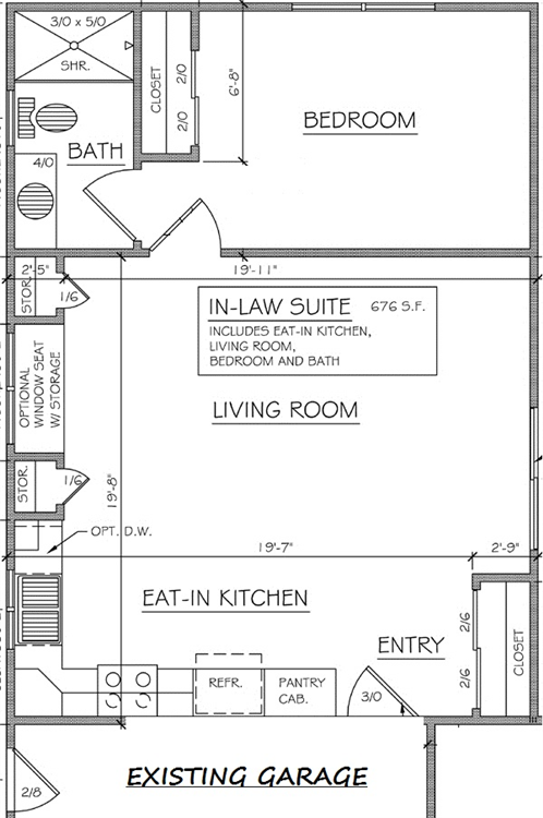 Mother in law house plans in law additions gerber for Mother in law apartment plans