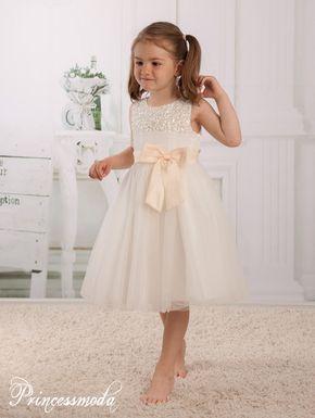 Florence Exklusives Festkleid In Champagner Bei Princessmoda Blumen Madchen Kleider Madchenkleid Blumenmadchen Kleid