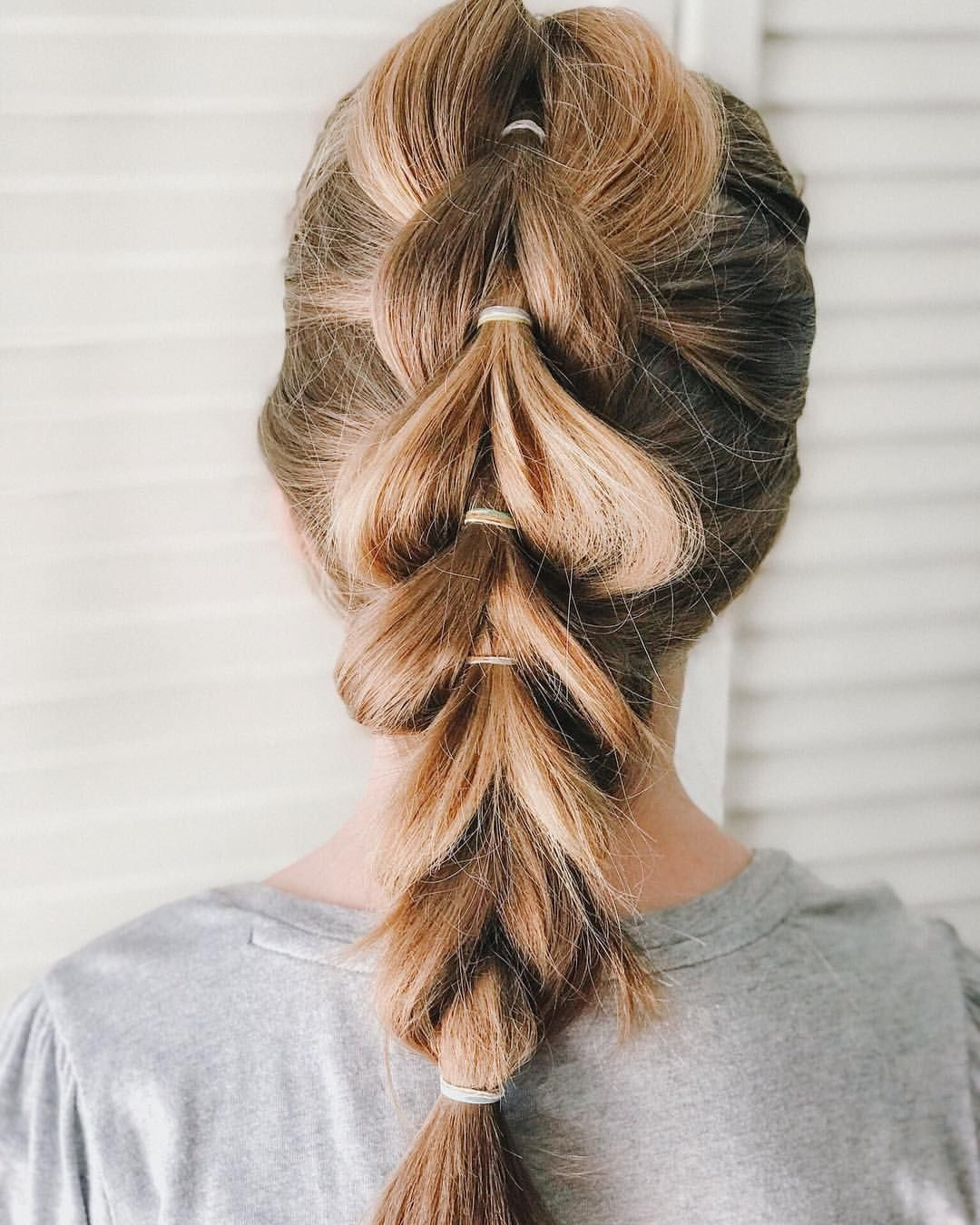 My First Time Doing A Pull Through Braid This Weekend On My Niece And I M Pleased With How It Turned Out We Ha Pulled Back Hairstyles Pull Through Braid Hair