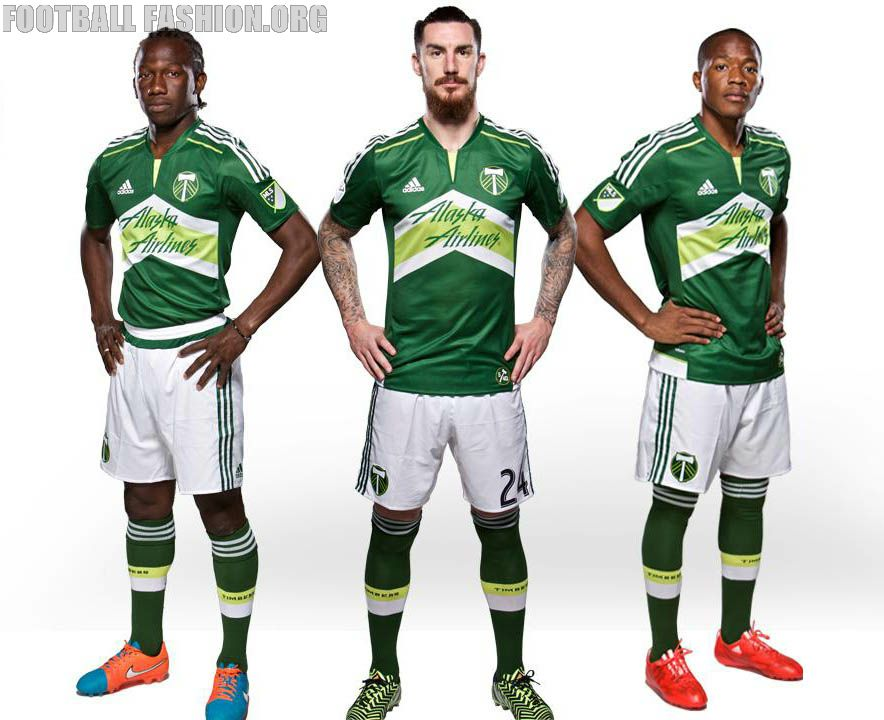 new concept 09de8 0c537 Portland Timbers 2015 adidas Home Jersey | Football and ...