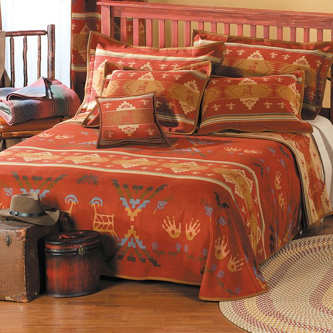 Western Bed Set Native American Bedroom Decor Southwestern Decorating Southwest