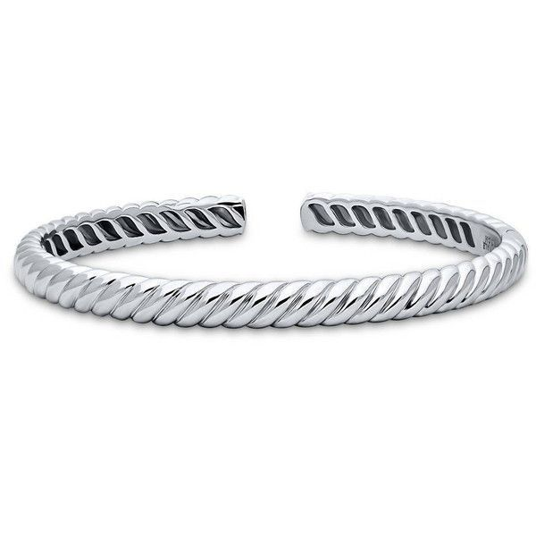 Berricle Sterling Silver Cable Fashion Cuff 108 Liked On Polyvore Featuring Jewelry