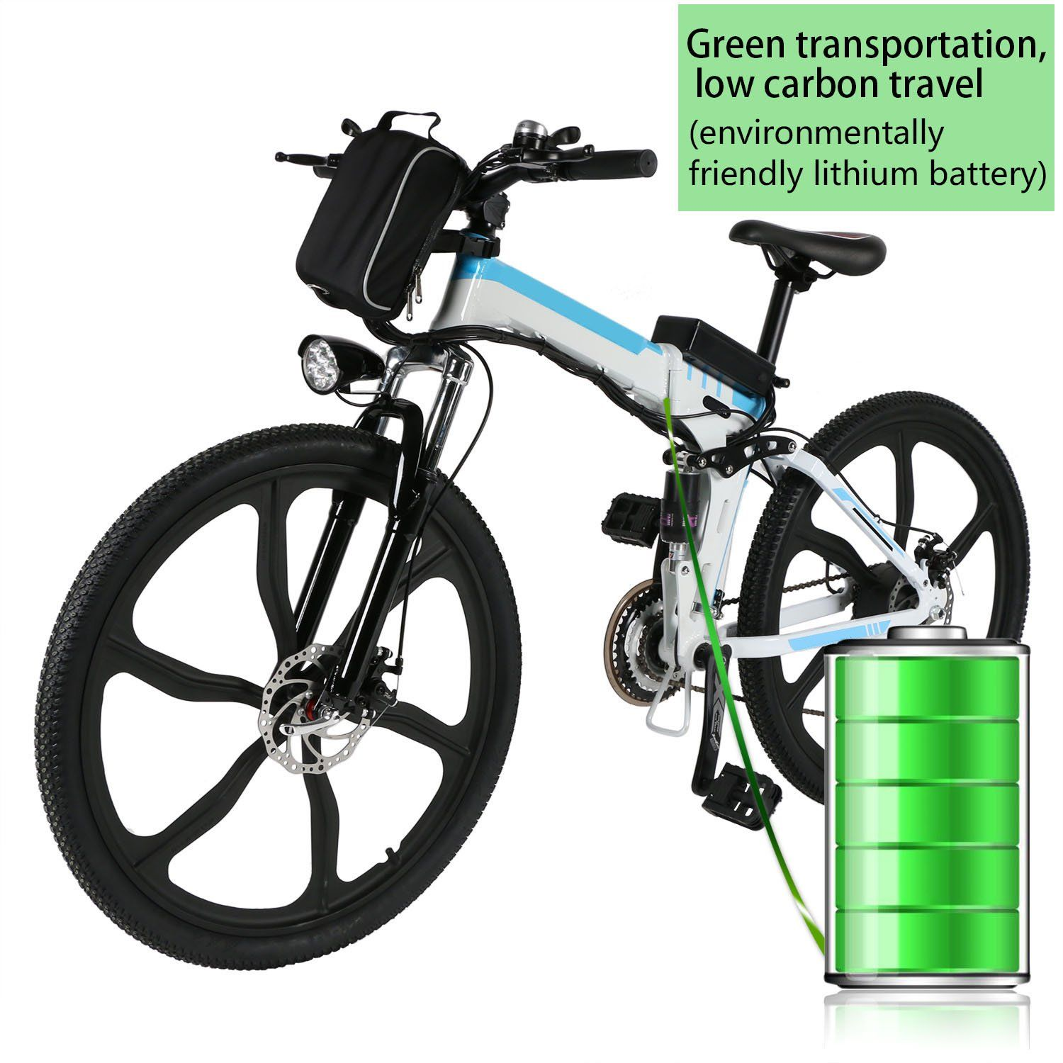 Speedrid Electric Folding Mountain Bike With 26 Super Lightweight