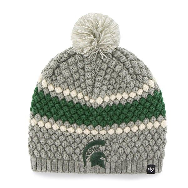 b99e18ca2b8 Michigan State Spartans 47 Brand Women s Leslie Knit Gray Hat in ...