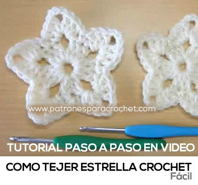 como tejer estrella al crochet bien facil | crochet | Pinterest ...