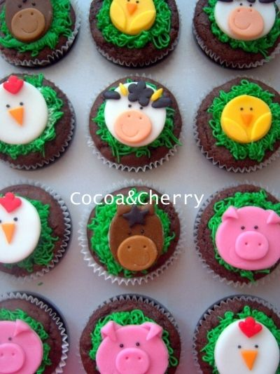 Farm Cupcakes By cocoaandcherry on CakeCentral.com