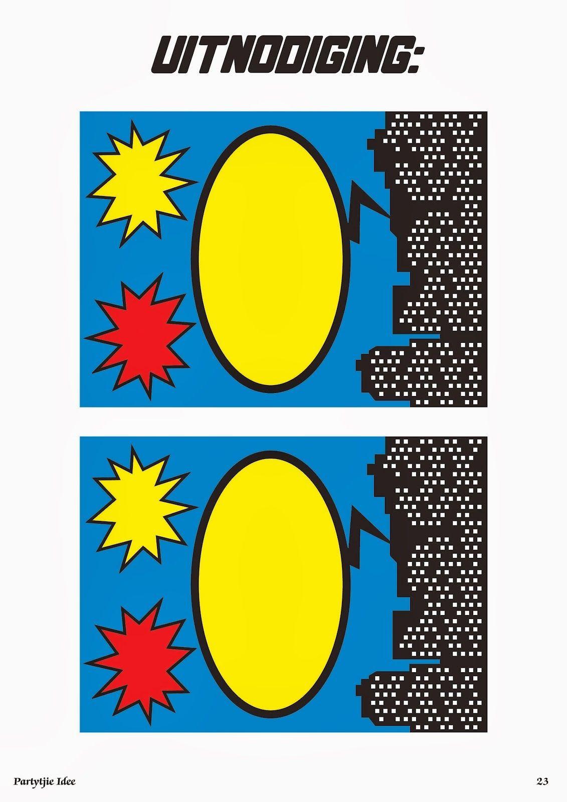 Original Mini Kit de Super Héroes para Imprimir Gratis
