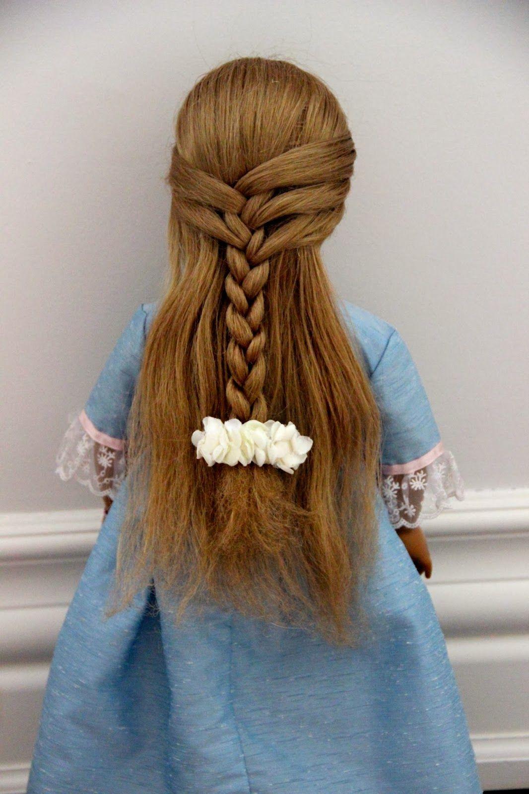 Dollicious quarter french braid doll hairstyle american girl