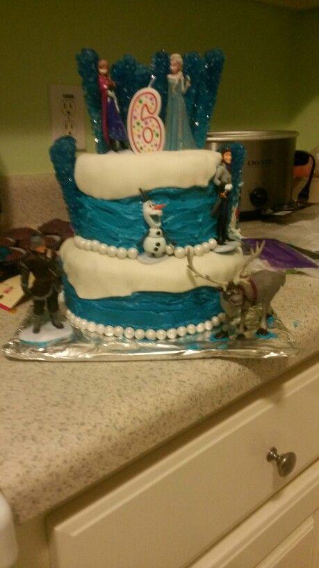 Frozen birthday cake #frozen #birthday