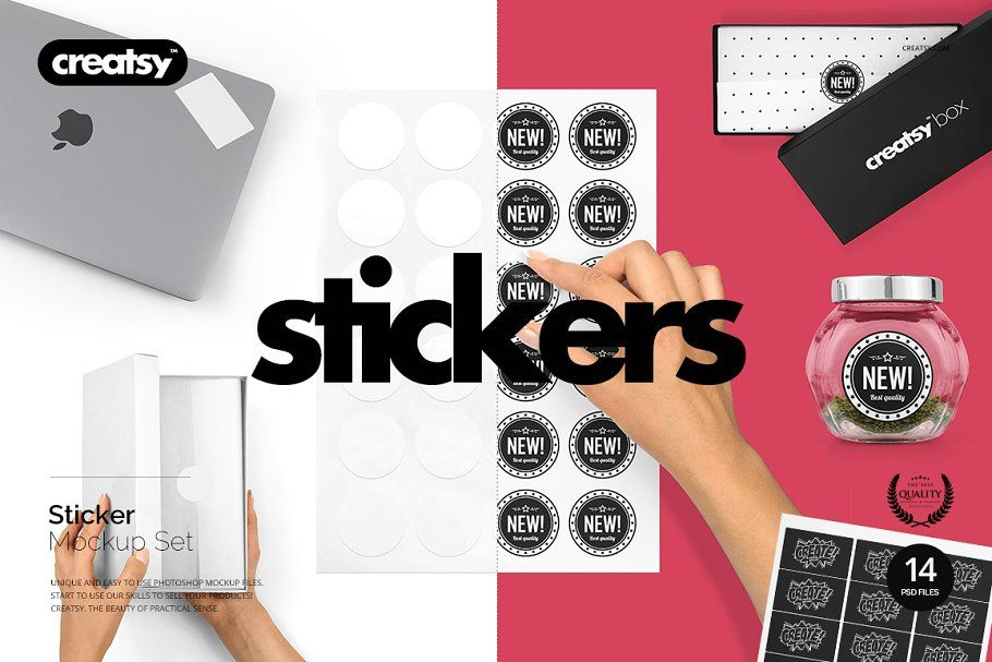 Stickers Mockup Set Business Card Logo Stickers Template Design