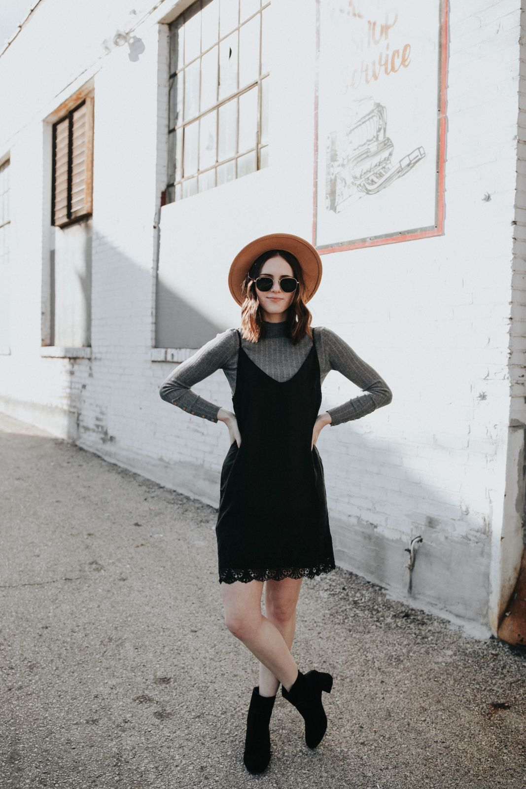 Outfit Ideas Without Jeans By Katie And Lydia Oh Darling Blog Fashion Slip Dress Outfit Casual Winter Outfits [ 1600 x 1067 Pixel ]