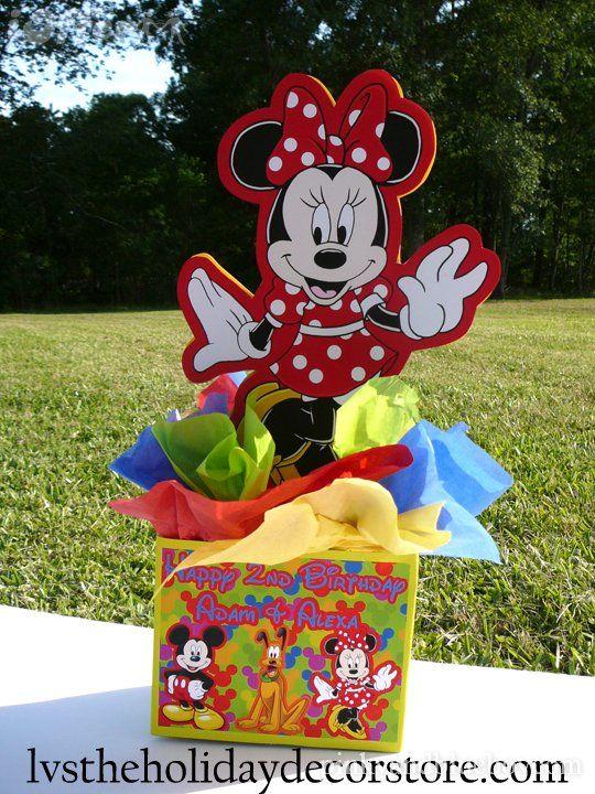 Centros de mesa para fiesta de la casa de mickey - Ideas para fiestas infantiles en casa ...