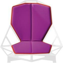 Photo of Magis Chair_One Cushion, large cushion, light blue fabric, blue hem Magis