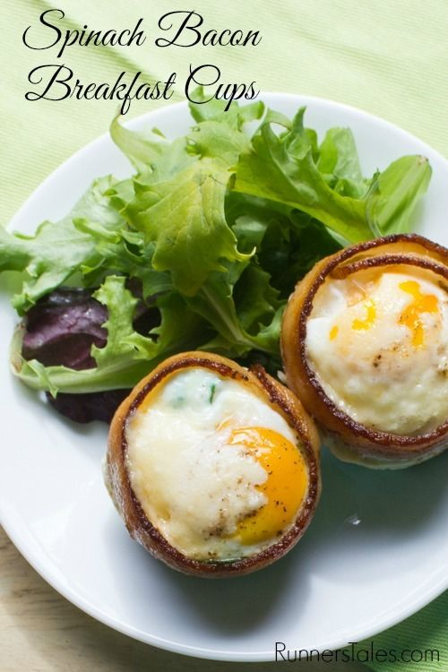 Spinach Bacon Eggs Cups