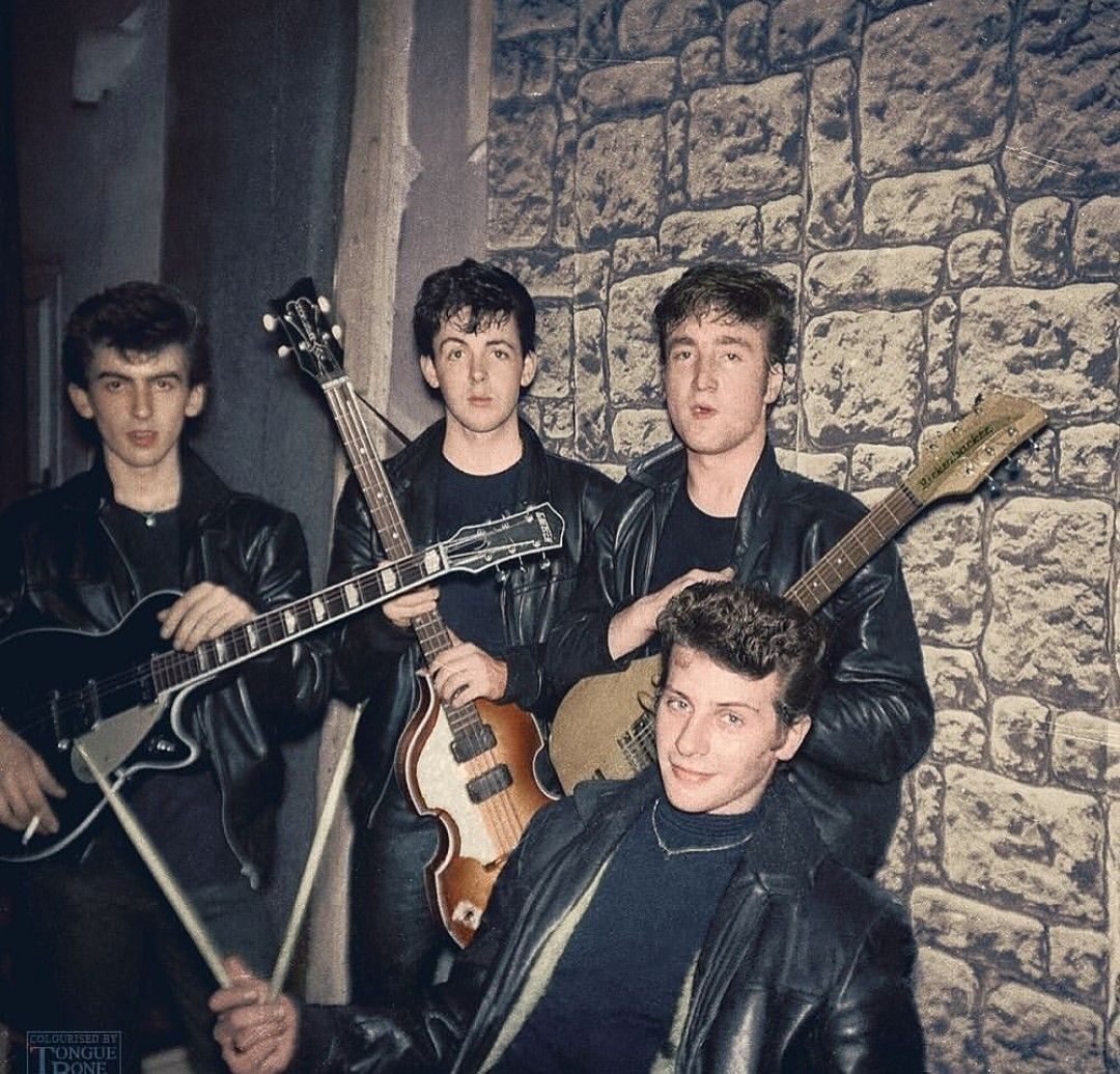 """The Beatles George Harrison at the Top Ten Club,1960 Print 8.5 x 11/"""""""