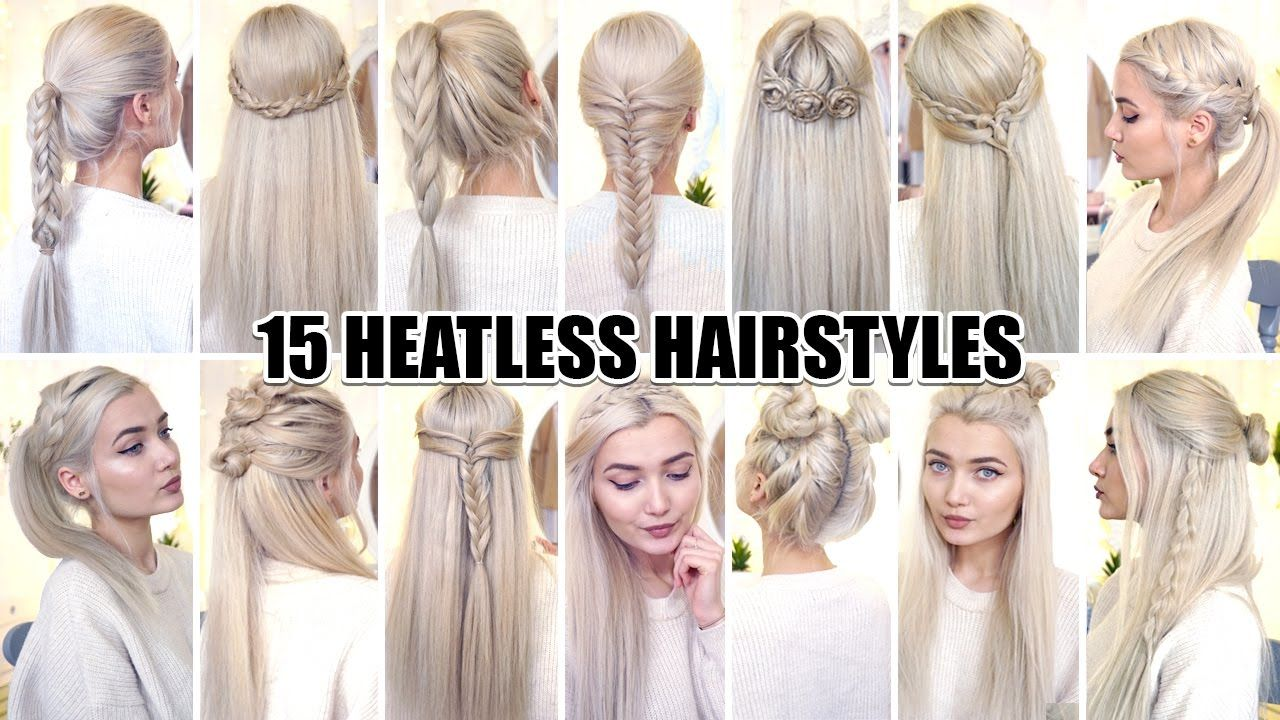 15 Braided Back To School Heatless Hairstyles Youtube