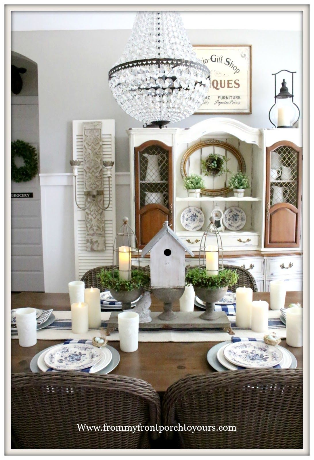 Early Spring Dining Room French Country Farmhouse Style Dining