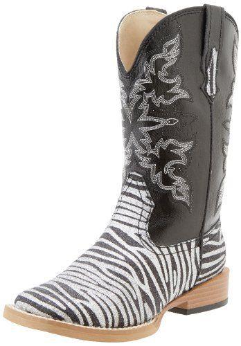 Roper Square Toe Glitter Zebra Western Boot (Toddler/Little Kid), http://www.amazon.com/dp/B00C5TGW6U/ref=cm_sw_r_pi_awdm_W5ltub04K8K4N