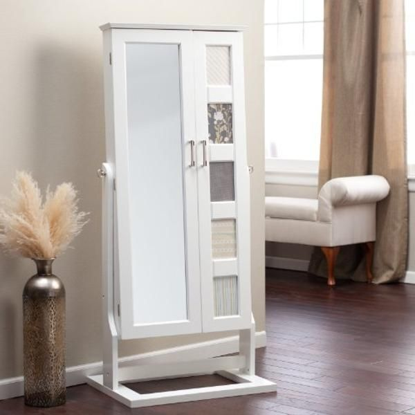 white jewelry armoire cheval mirror Free Reference Images