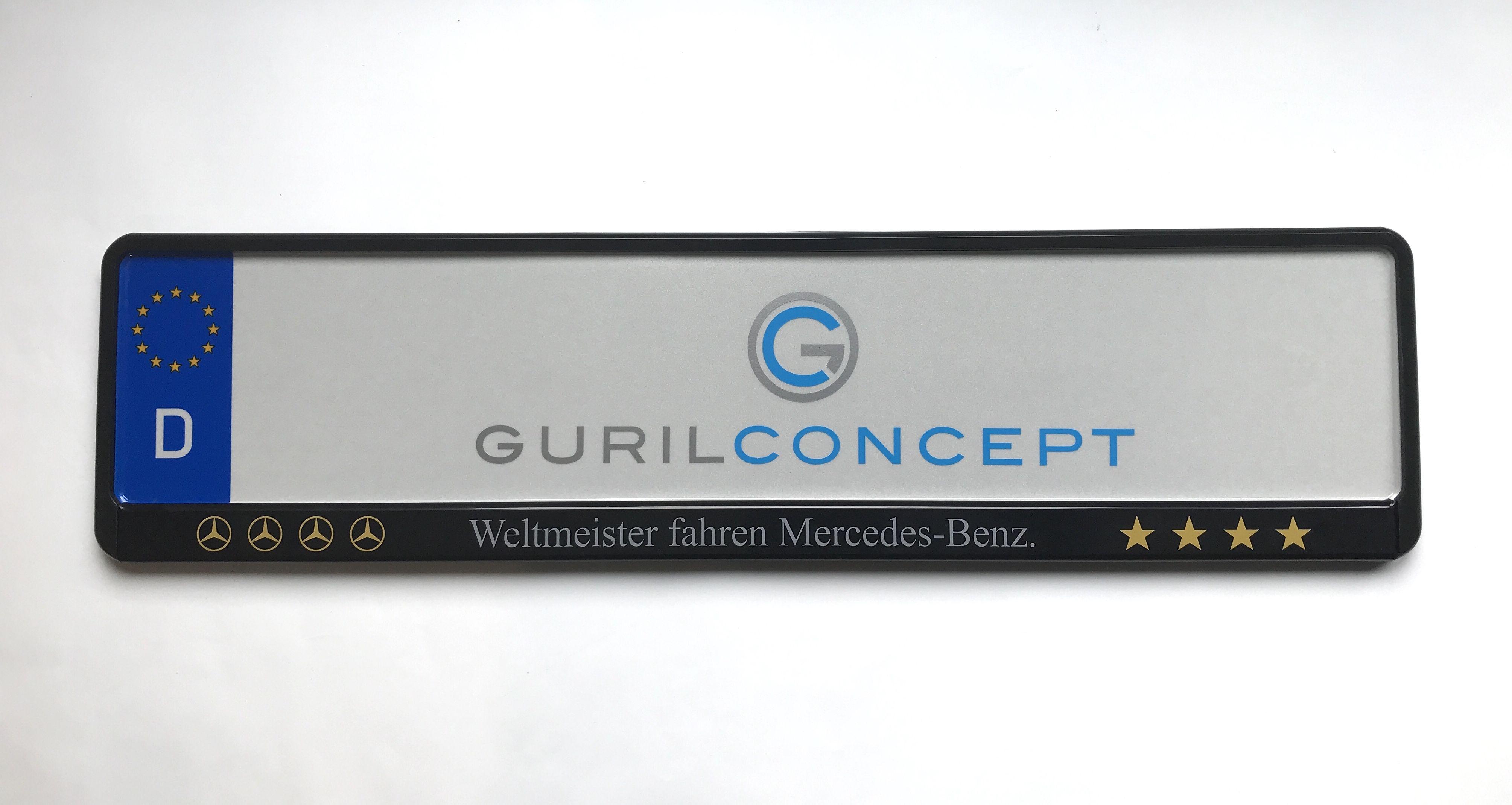 für Österreich AT 520x120mm mit Wunschbeschriftung