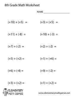 8th Grade Worksheets Pdf: 8th Grade Math Worksheets Pdf   Delibertad,