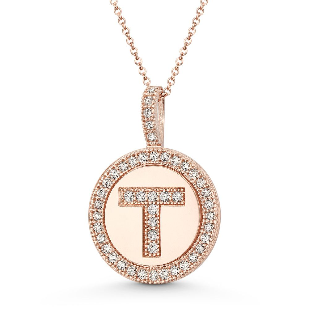 Solid 14k Yellow Gold Casted Initial P Pendant Charm
