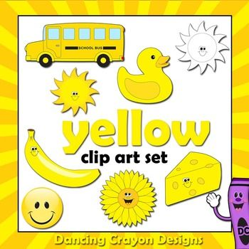 Color Yellow Clip Art Things That Are Yellow Color Activities Teaching Colors Clip Art Yellow color ideas for preschool