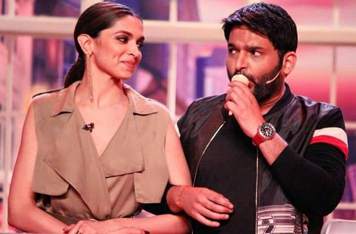 Deepika Padukone With Kapil Sharma Comedy Nights With Kapil Deepika Padukone Comedy Nights