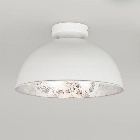 Plafondlamp Magna Basic 30 Mat Wit Met Zilveren Binnenkant Plafondlamp
