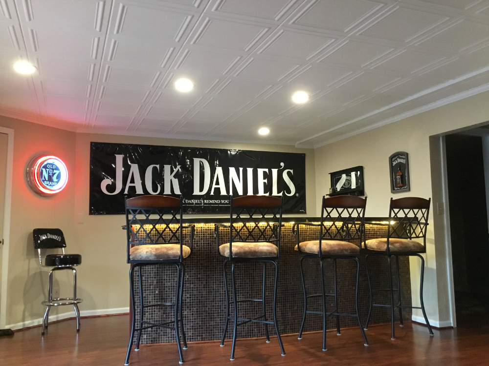 Man Cave New Ceiling Tile Install Tile Installation Man Cave Ceiling Ideas Ceiling Tile