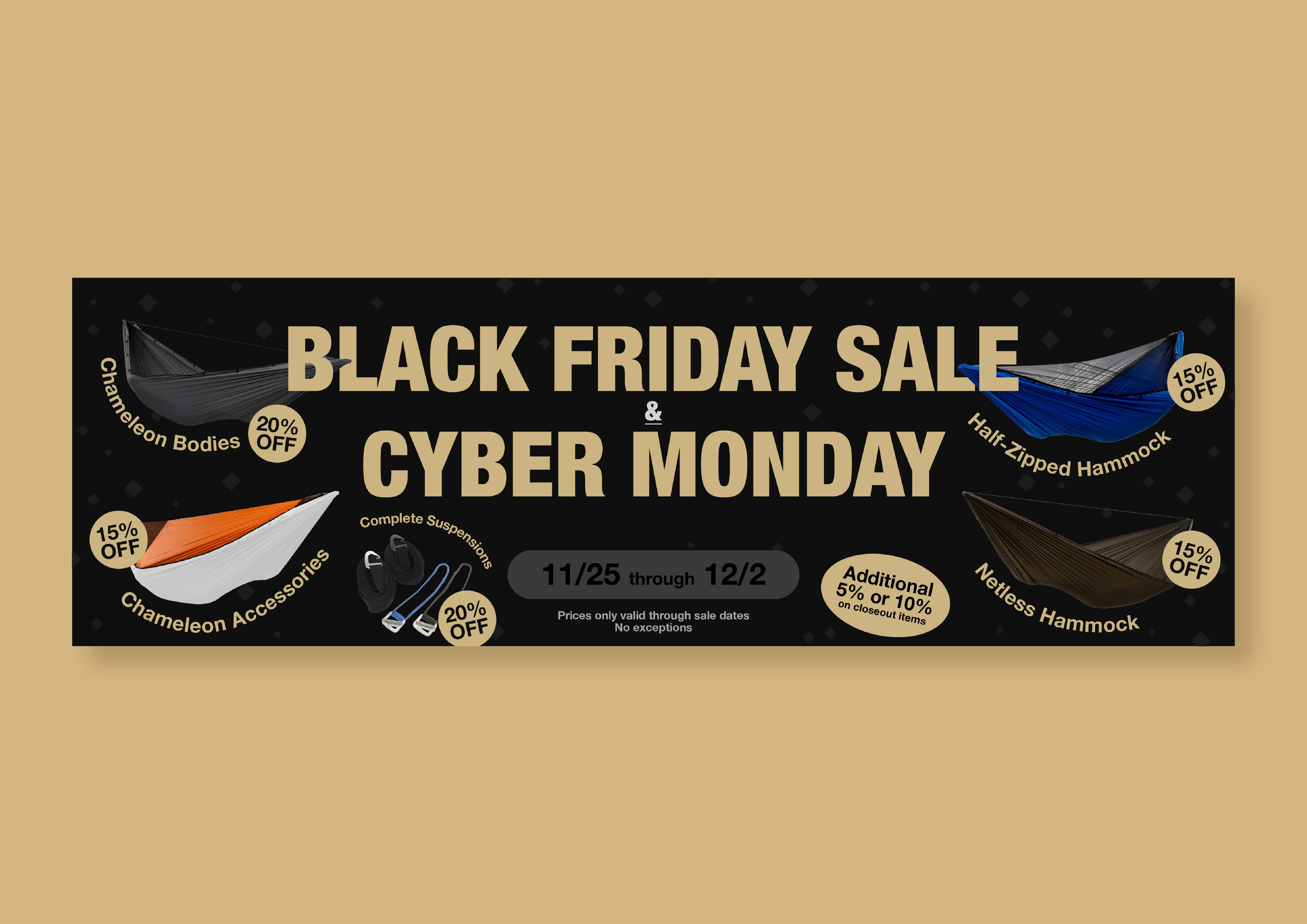 Hiking Black Friday Sale Web Banner In 2020 Awesome Gear Hammock Camping Web Banner