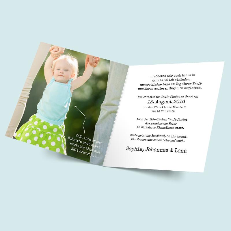 einladung zur taufe wunder - taufkarten selbst gestalten, Einladung