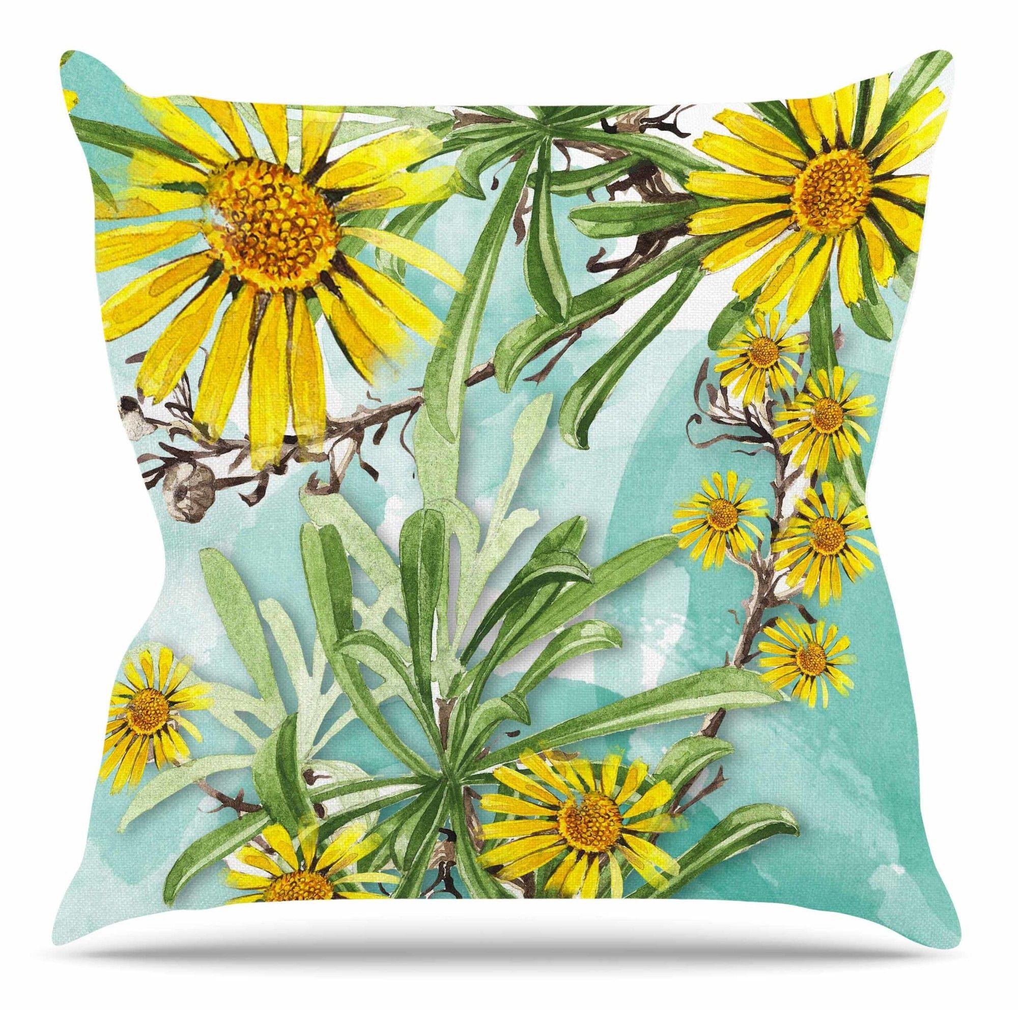 Sunny Day by Liz Perez Throw Pillow