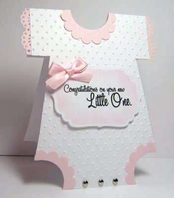 Onsie Card For Baby Showers Diy Crafts Baby Cards Cards