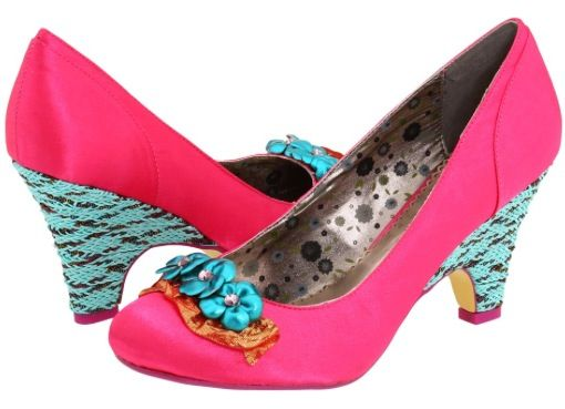 Bright colored shoes!