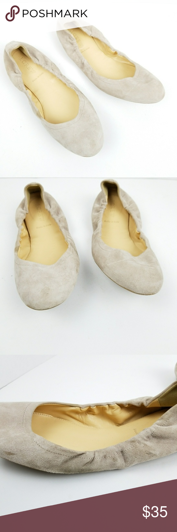 J Crew Womens 9.5 Emmie Ballet Flats Leather Suede