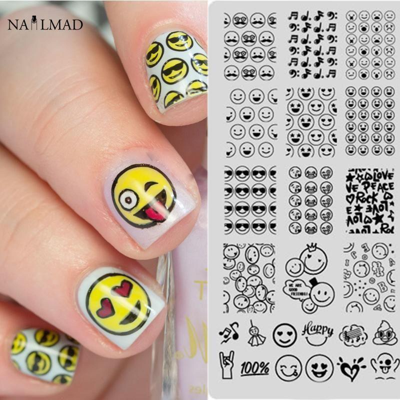 pc Emoji Nail Stamping Plate Nail Art