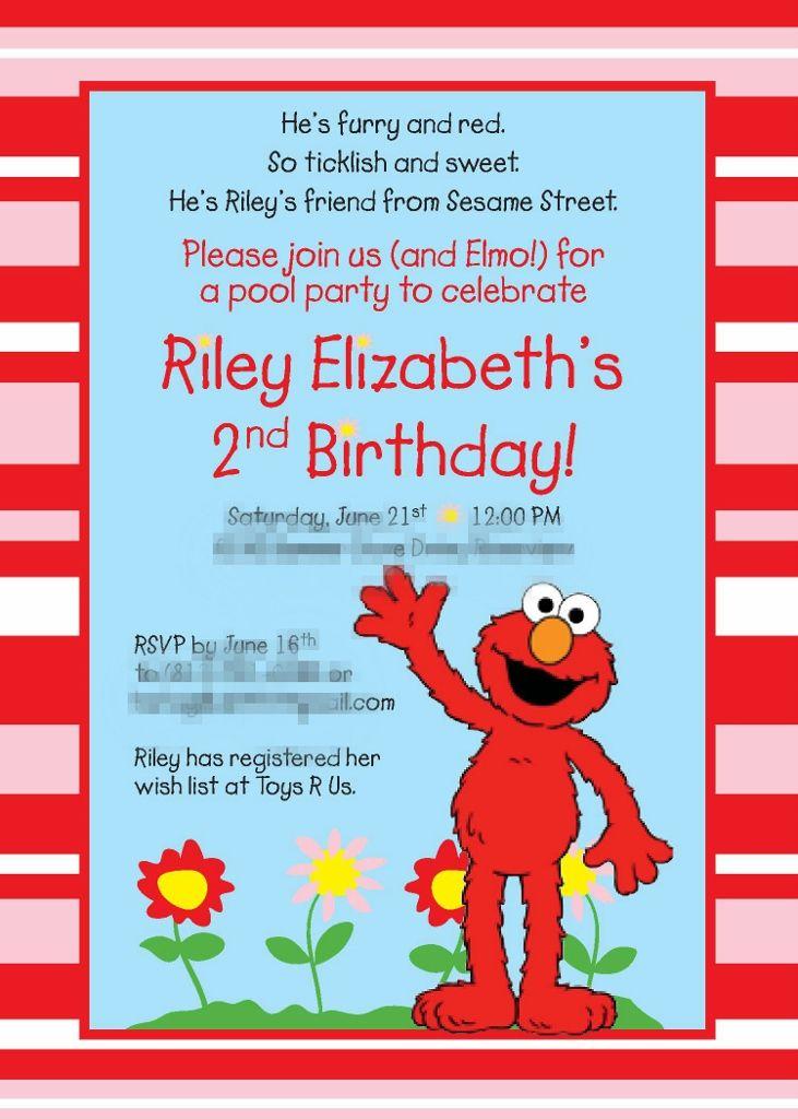 Elmo Birthday Party   Elmo birthday, Elmo and Party invitations