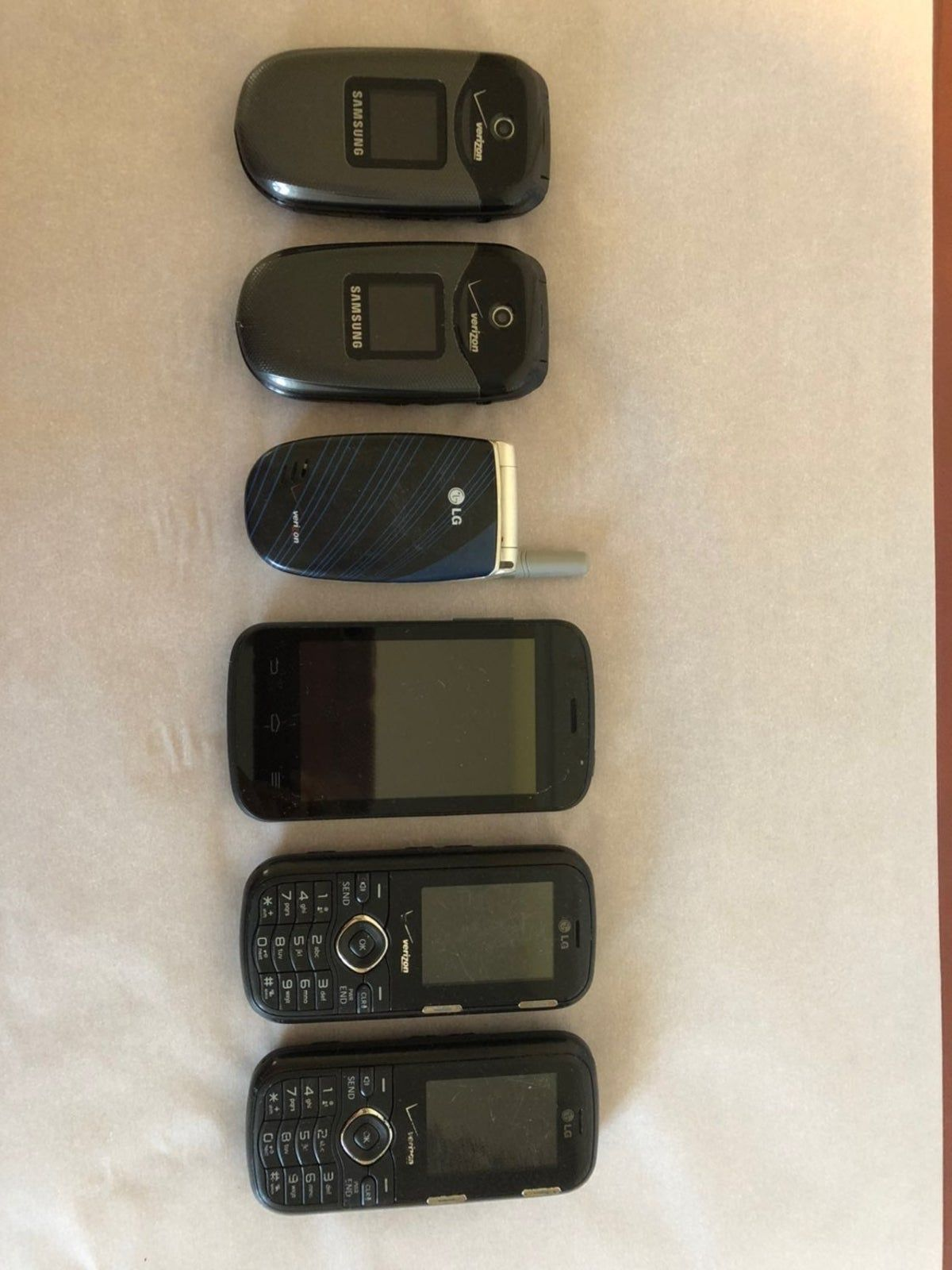 Various cell phones flip/slide on Mercari