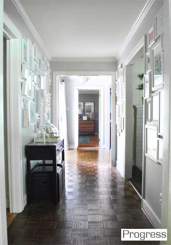 Hallway Walls Moonshine By Benjamin Moore Color Matched To Olympic No Voc Paint In Satin