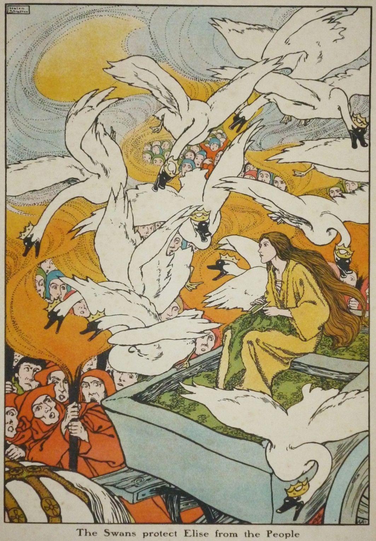 The Wild Swans Helen Stratton Fairytale Illustration