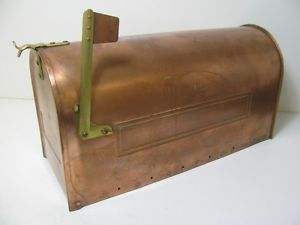 Smith Hawken Medium Copper Mailbox W Brass Accents Copper